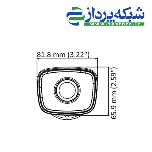 دوربین هایلوک مدل THC-B140-M - ابعاد جلو