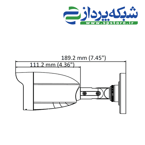 دوربین هایلوک مدل THC-B140-M - ابعاد بغل