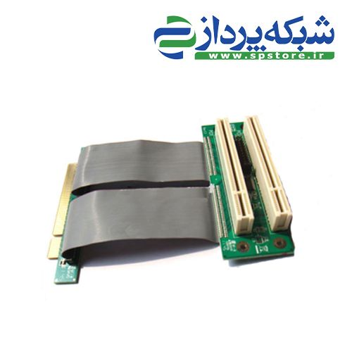 PCI 32bits to dual PCI riser card with high speed flex cable